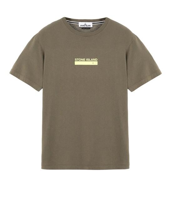 Short sleeve t-shirt Man 2NS55 'SMALL LOGO ONE' Front STONE ISLAND