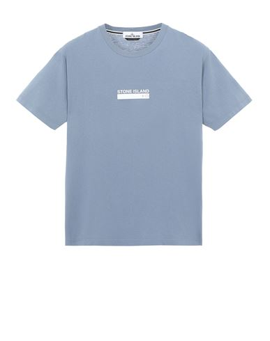 STONE ISLAND 2NS55 'SMALL LOGO ONE' Short sleeve t-shirt Man Pastel Blue EUR 115
