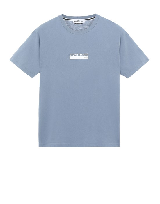 STONE ISLAND 2NS55 'SMALL LOGO ONE' Short sleeve t-shirt Man Pastel Blue