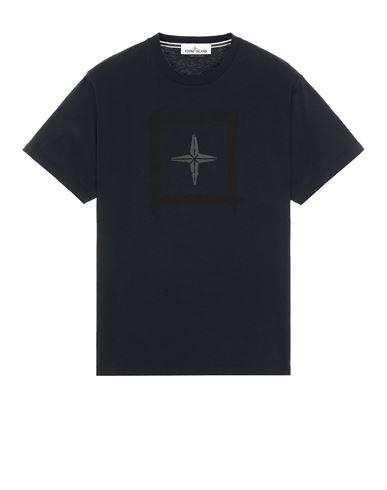 STONE ISLAND 2NS81 'STENCIL TWO' Short sleeve t-shirt Man Blue EUR 125