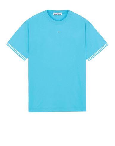 STONE ISLAND 21358 Short sleeve t-shirt Man Turquoise USD 131