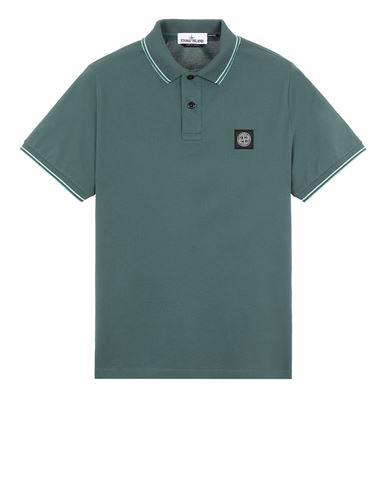 STONE ISLAND 22S18 Polo shirt Man Dark Teal Green EUR 125