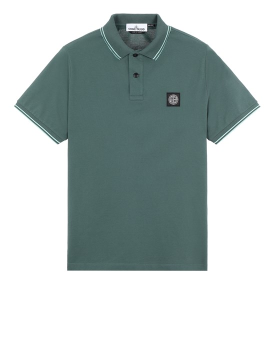STONE ISLAND 22S18 Polo shirt Man Dark Teal Green