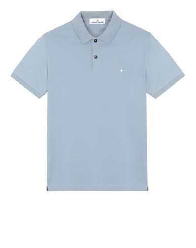 STONE ISLAND 21717 Polo shirt Man Mid Blue EUR 95