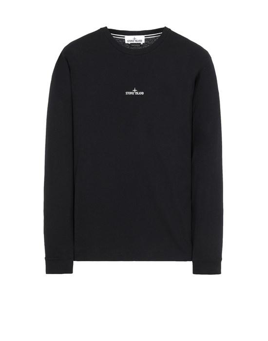 STONE ISLAND 2ML82 'STENCIL THREE' Long sleeve t-shirt Man Black