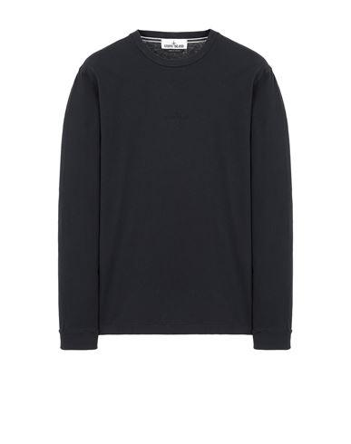 STONE ISLAND 2ML82 'STENCIL THREE' Long sleeve t-shirt Man Blue USD 218