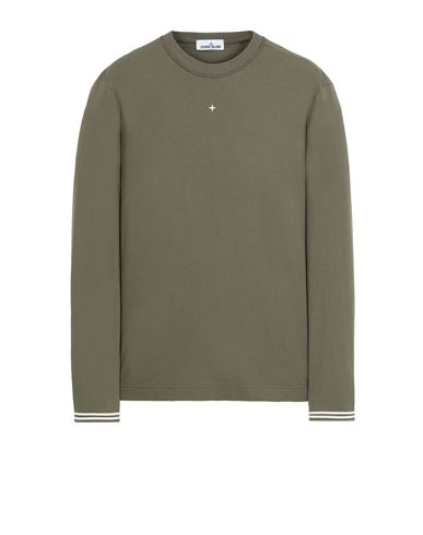 STONE ISLAND 21458 Long sleeve t-shirt Man Olive Green EUR 139