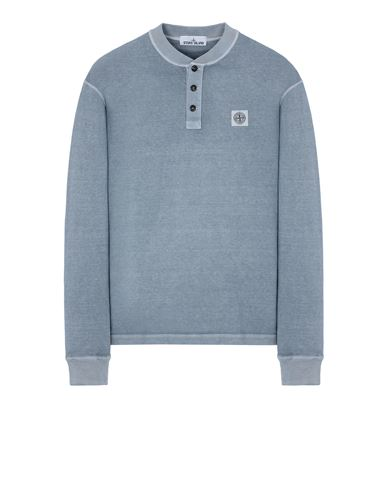 STONE ISLAND 20857 'FISSATO' TREATMENT Long sleeve t-shirt Man Mid Blue USD 175