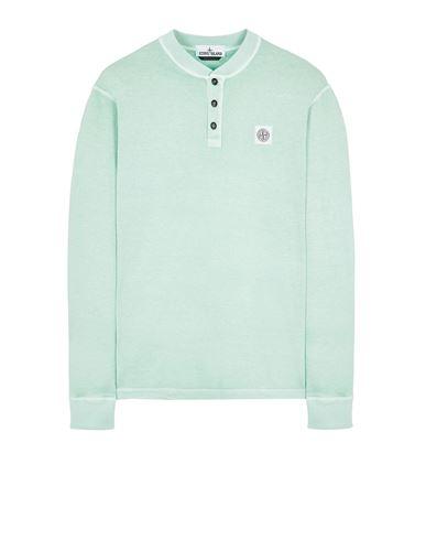 STONE ISLAND 20857 'FISSATO' TREATMENT Long sleeve t-shirt Man Aqua USD 250