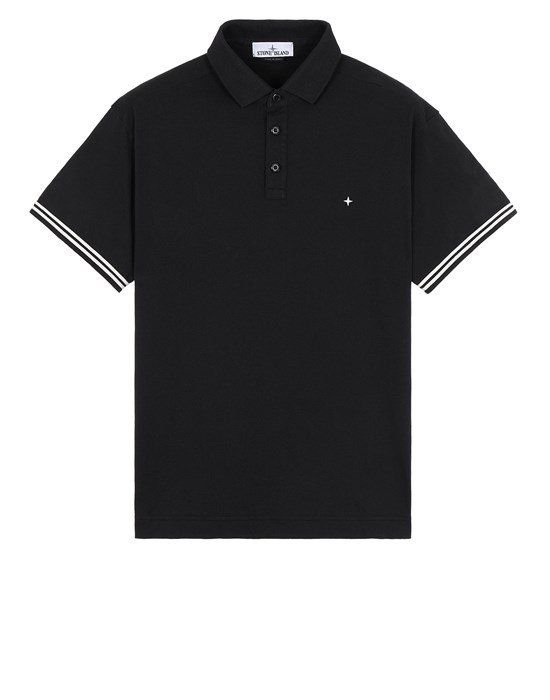 STONE ISLAND 20558 Polo shirt Man Black
