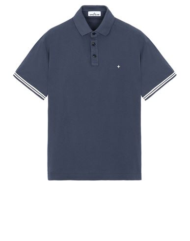 STONE ISLAND 20558 Polo shirt Man Avio Blue EUR 170