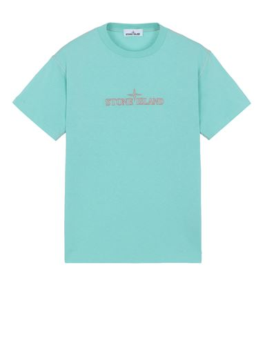 STONE ISLAND 20644 Short sleeve t-shirt Man Aqua USD 133