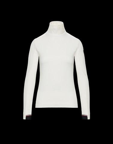 高领针织衫 白色 运动服 女士