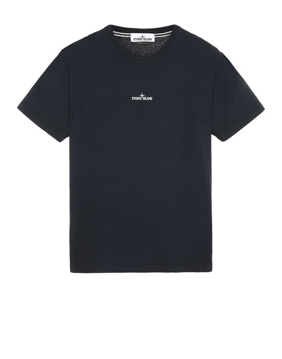 STONE ISLAND 2NS85 'MARBLE THREE' Short sleeve t-shirt Man Blue