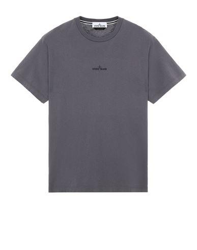 STONE ISLAND 2NS85 'MARBLE THREE' Short sleeve t-shirt Man Blue Grey EUR 145