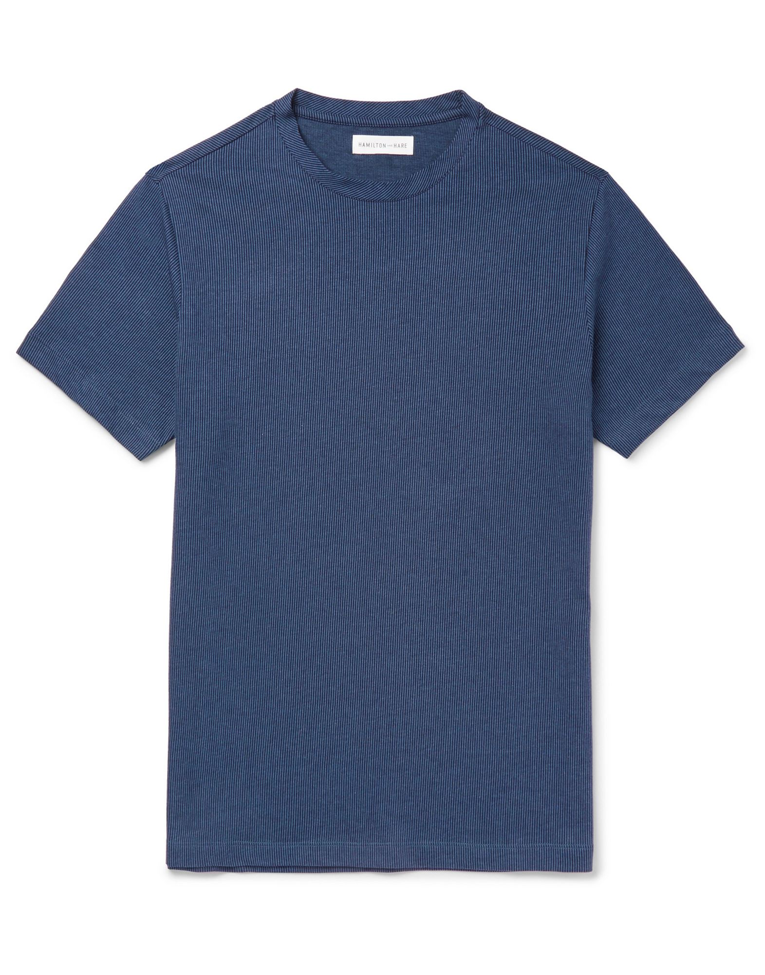 HAMILTON AND HARE T-shirts. jersey, no appliqués, stripes, round collar, short sleeves, no pockets. 100% Cotton