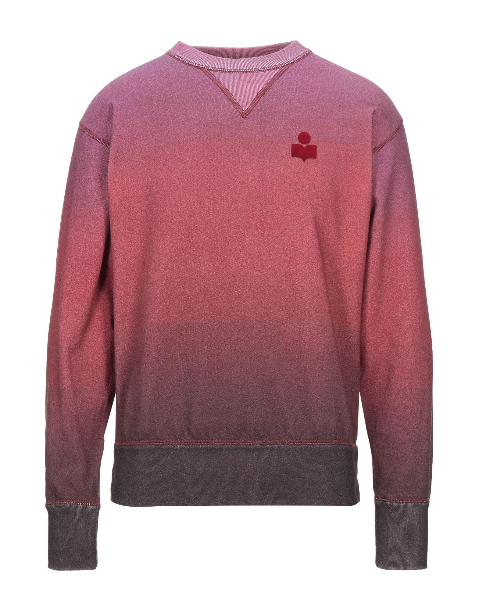 ISABEL MARANT Sweatshirts. sweatshirt fleece, logo, multicolor pattern, round collar, long sleeves, no pockets, fleece lining. 88% Cotton, 12% Polyester