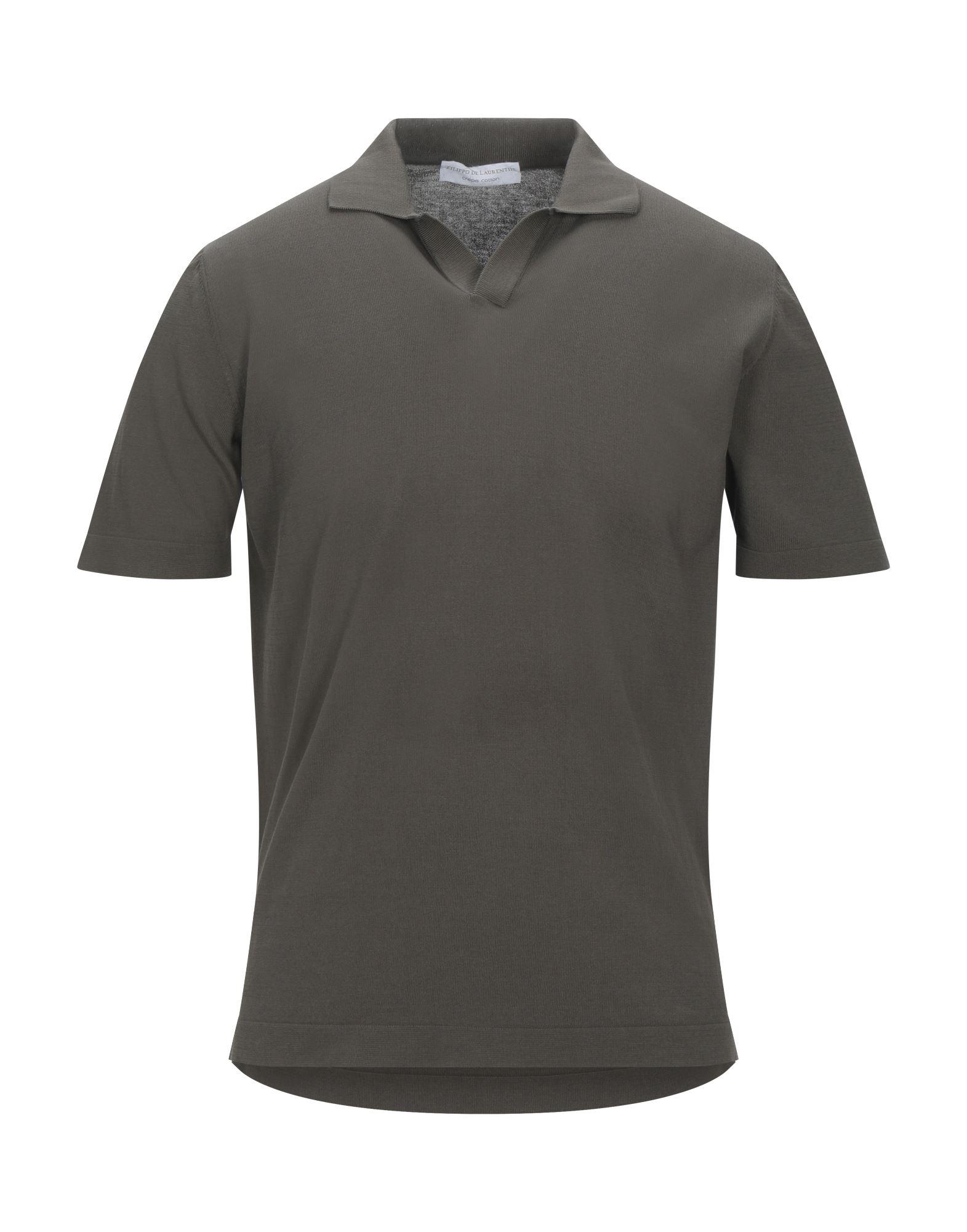 《セール開催中》FILIPPO DE LAURENTIIS メンズ ポロシャツ カーキ 46 コットン 100%