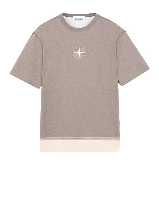 STONE ISLAND 23341 Short sleeve t-shirt Man Mud
