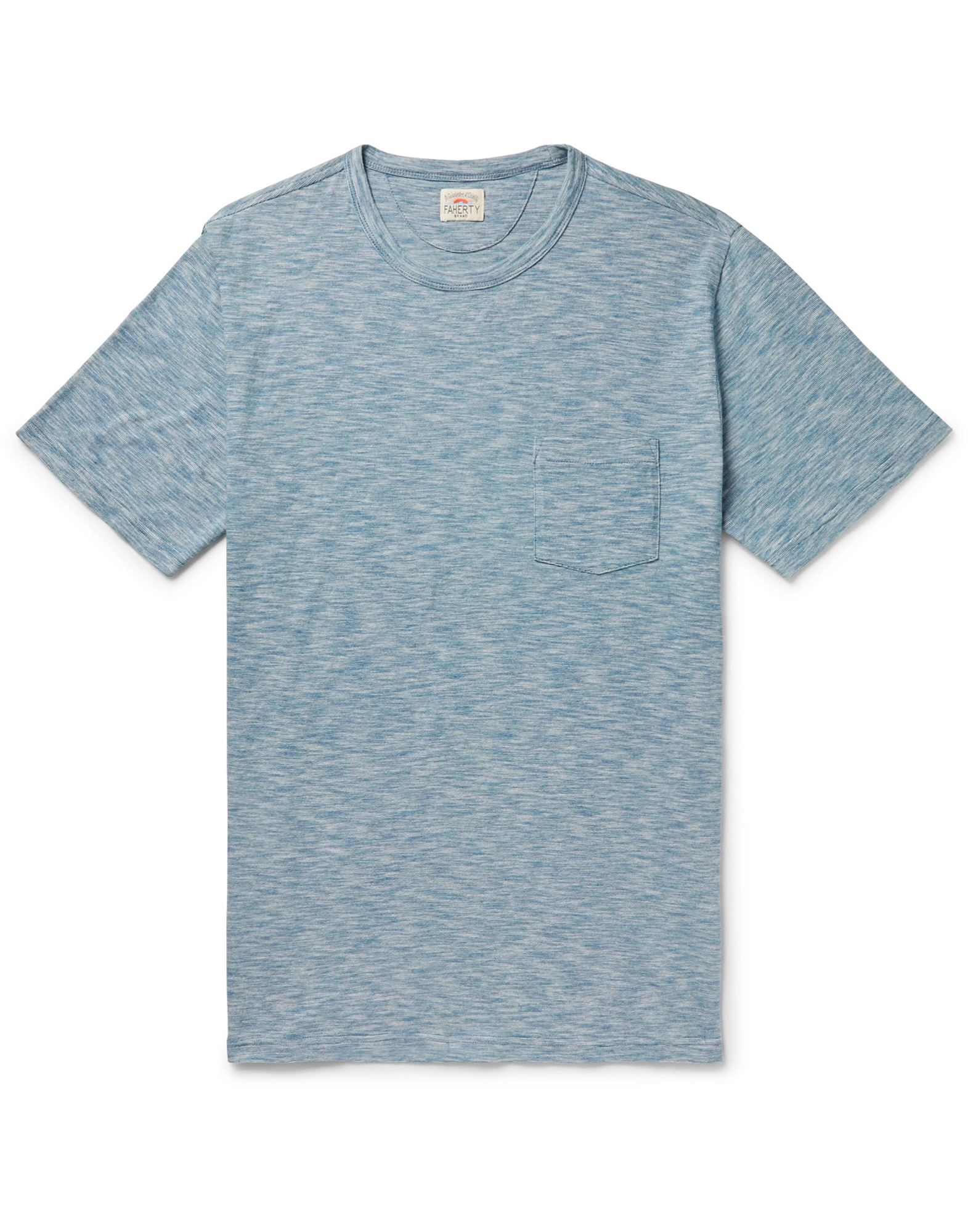 FAHERTY T-shirts. jersey, logo, two-tone, round collar, short sleeves, single pocket. 100% Cotton