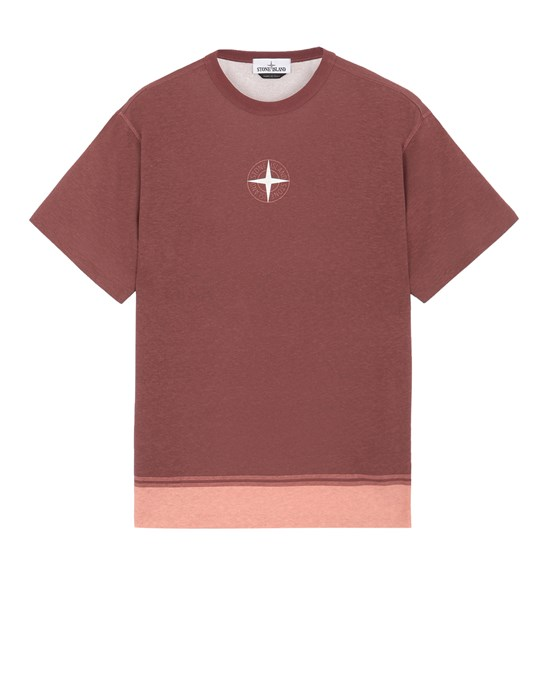 STONE ISLAND 23341 Short sleeve t-shirt Man Dark Burgundy