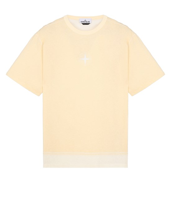 STONE ISLAND 23341 Short sleeve t-shirt Man Butter