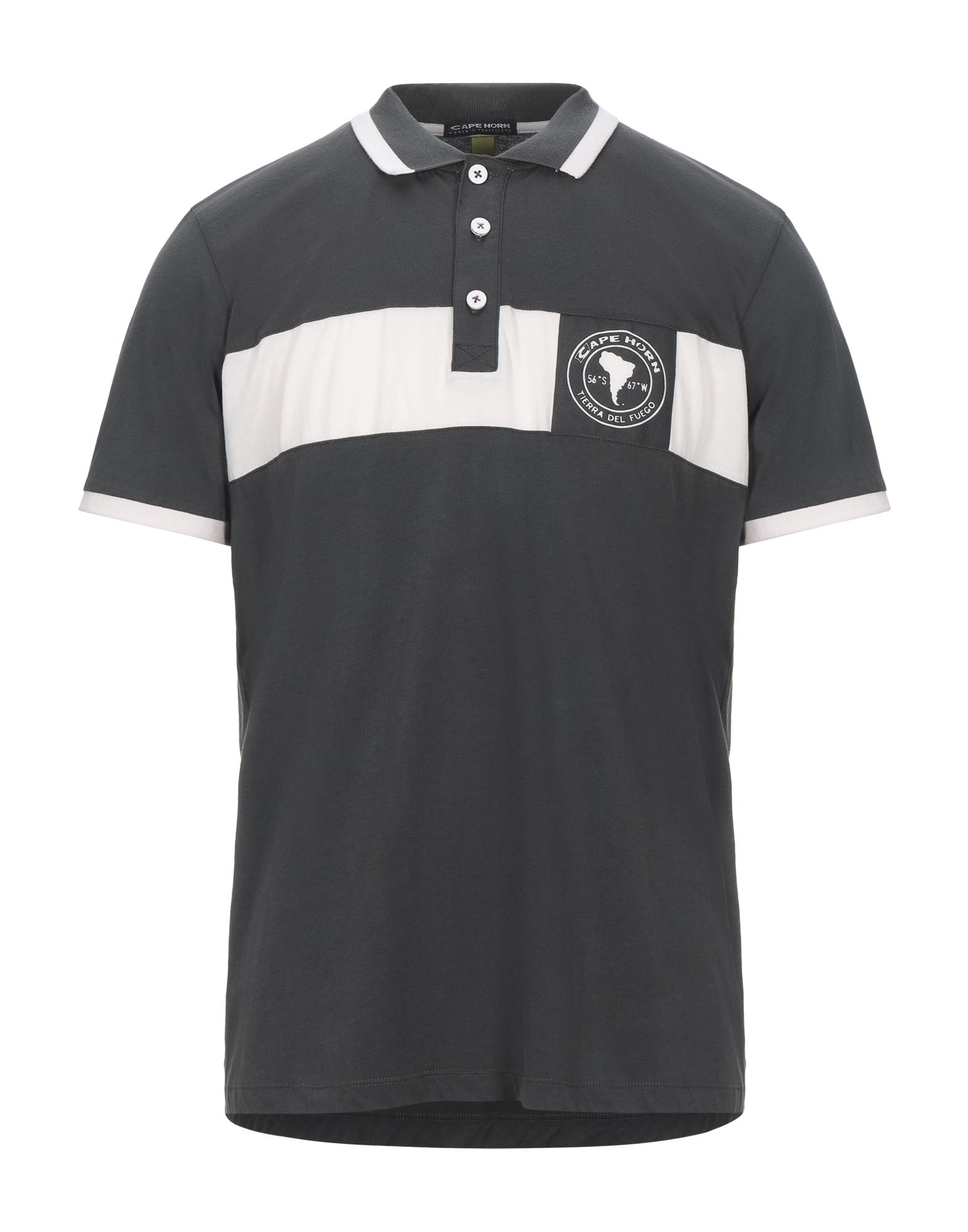 MSGM Polo shirts. jersey, logo, two-tone, polo collar, short sleeves, front closure, button closing, no pockets, large sized. 100% Cotton