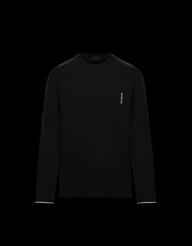 LONG-SLEEVED T-SHIRT Black Polos & T-Shirts Man