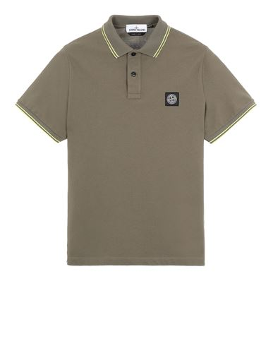 STONE ISLAND 22S18 Polo shirt Man Olive Green USD 125