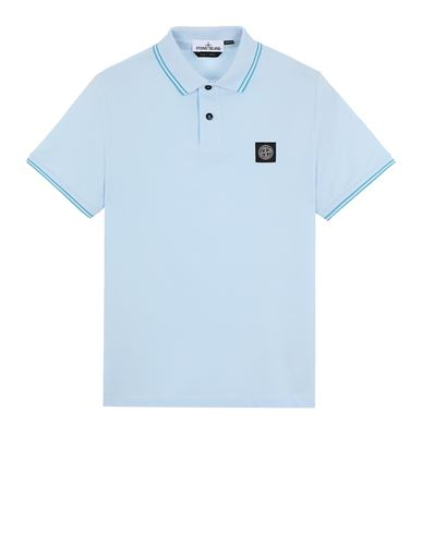 STONE ISLAND 22S18 Polo shirt Man Sky Blue USD 131