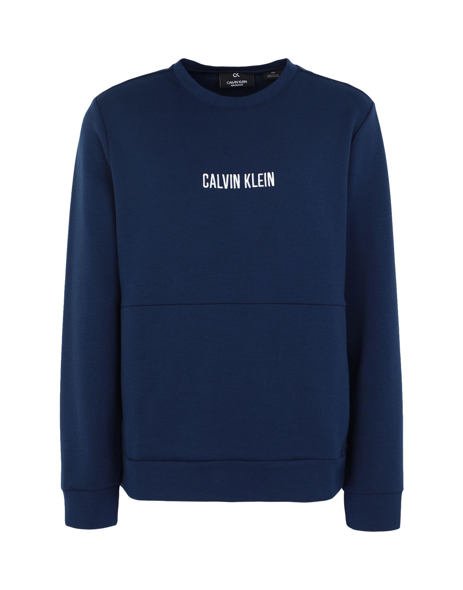 《セール開催中》CALVIN KLEIN PERFORMANCE メンズ スウェットシャツ ブルー S ポリエステル 75% / コットン 20% / ポリウレタン 5% PULLOVER