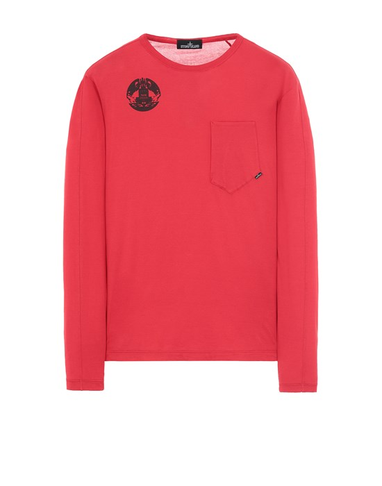 STONE ISLAND SHADOW PROJECT 20310 PRINTED LS CATCH POCKET-T Langärmliges Shirt Herr Rot