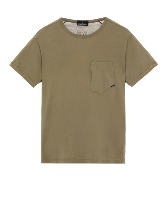 STONE ISLAND SHADOW PROJECT 20610 PRINTED SS CATCH POCKET-T Short sleeve t-shirt Man Olive Green