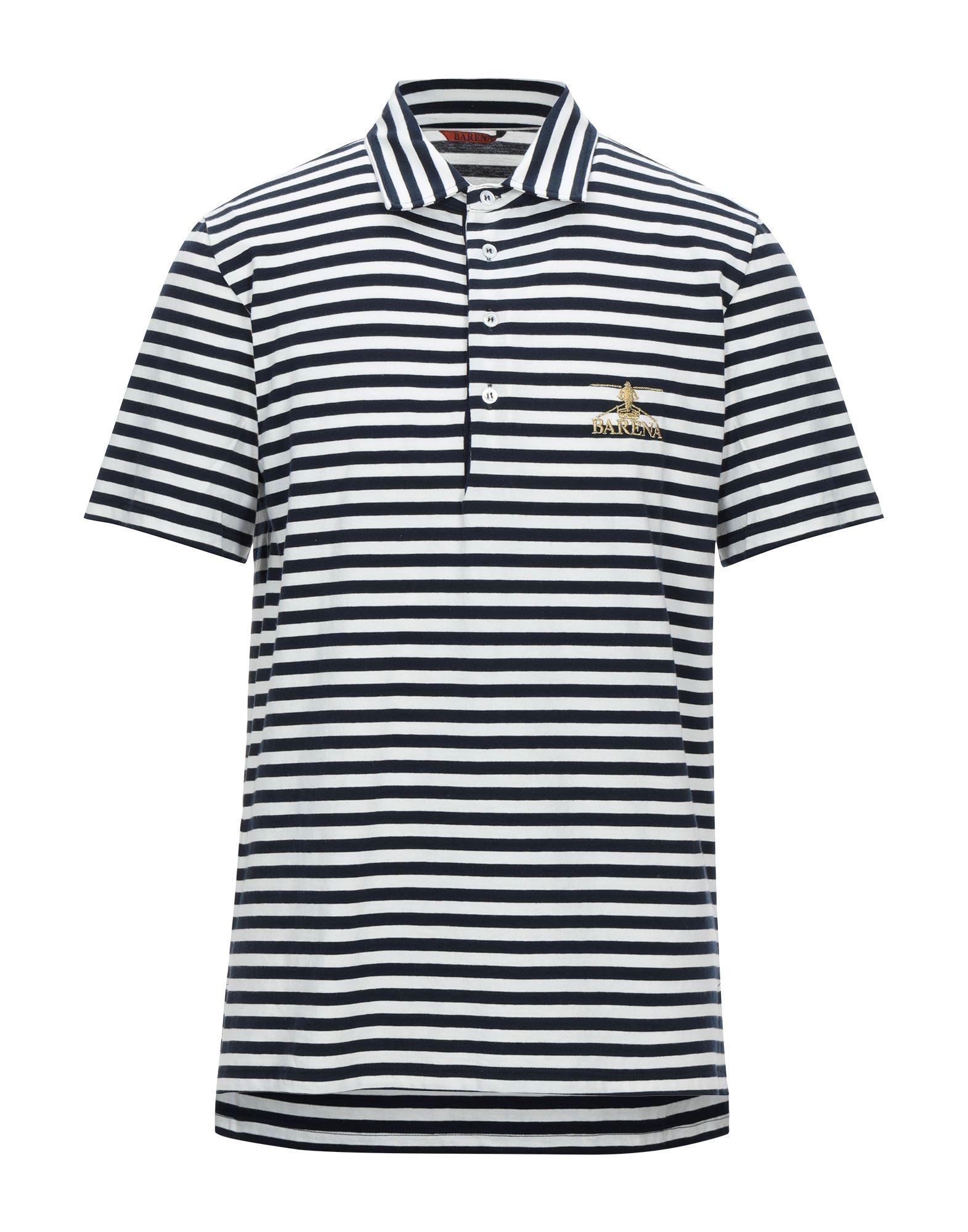 《セール開催中》BARENA メンズ ポロシャツ ホワイト S コットン 100%