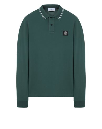 STONE ISLAND 2SS18 Polo shirt Man Dark Teal Green EUR 129