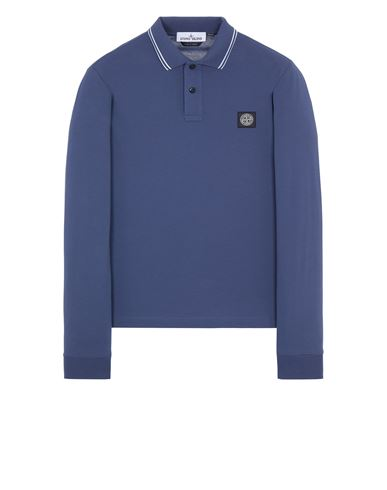 STONE ISLAND 2SS18 Polo shirt Man Avio Blue. EUR 129