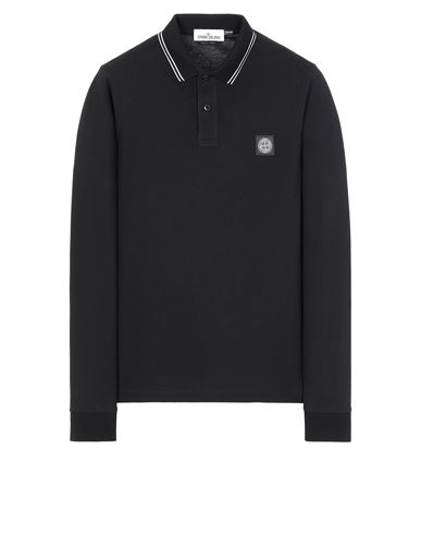 STONE ISLAND 2SS18 Polo shirt Man Black USD 152