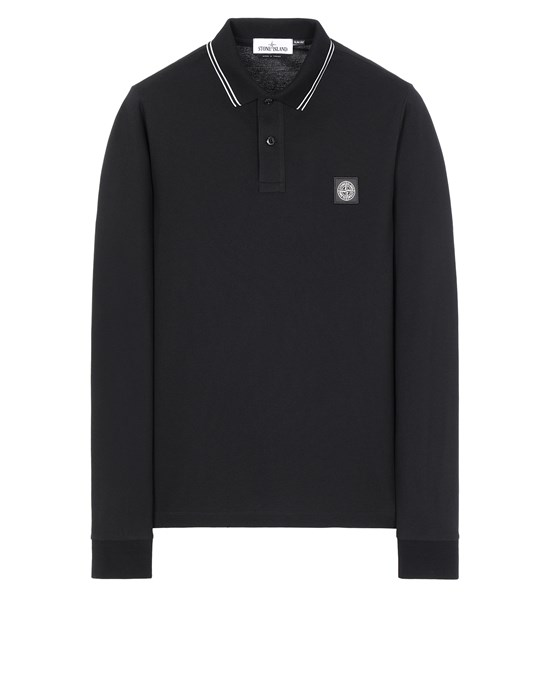 STONE ISLAND 2SS18 Polo shirt Man Black