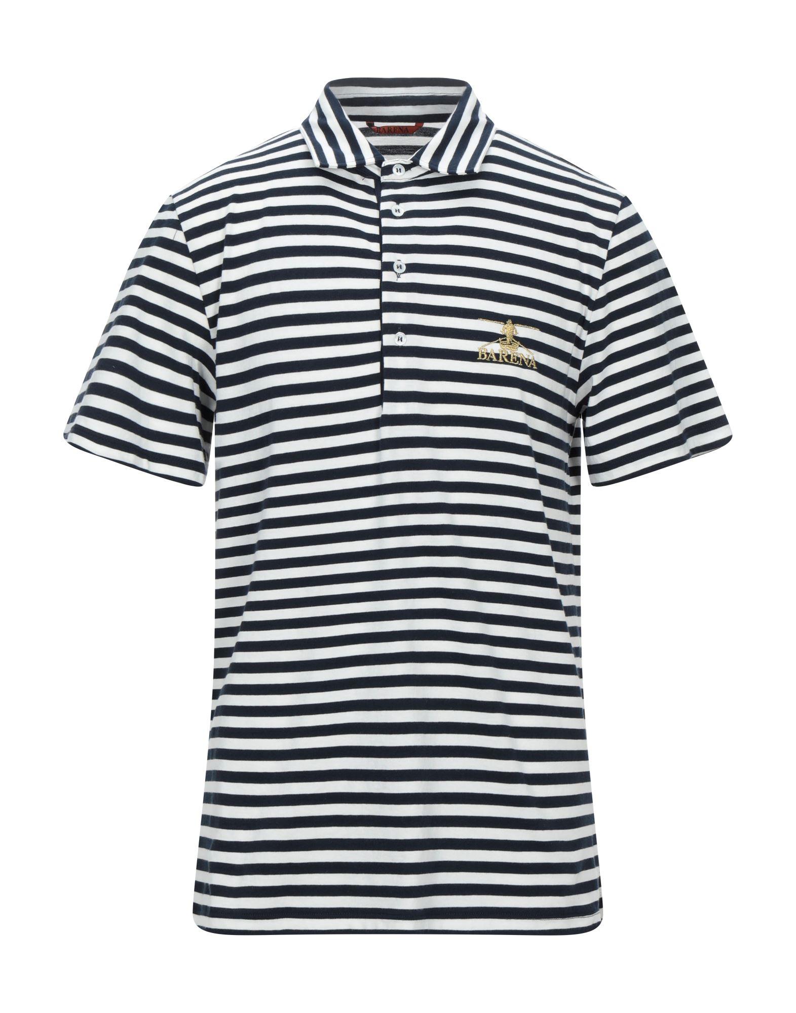 《セール開催中》BARENA メンズ ポロシャツ ダークブルー S コットン 100%