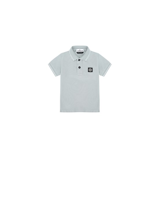 STONE ISLAND JUNIOR 21348 Polo shirt Man Dust Grey