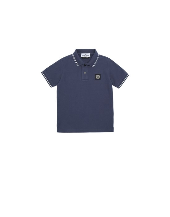 STONE ISLAND JUNIOR 21348 Polo 衫 男士 海蓝色