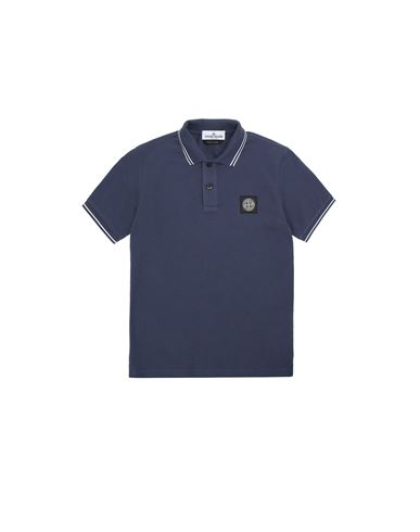 STONE ISLAND JUNIOR 21348 Polo shirt Man Marine Blue USD 109
