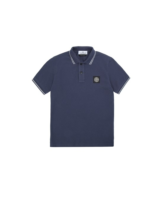 STONE ISLAND JUNIOR 21348 Polo shirt Man Marine Blue
