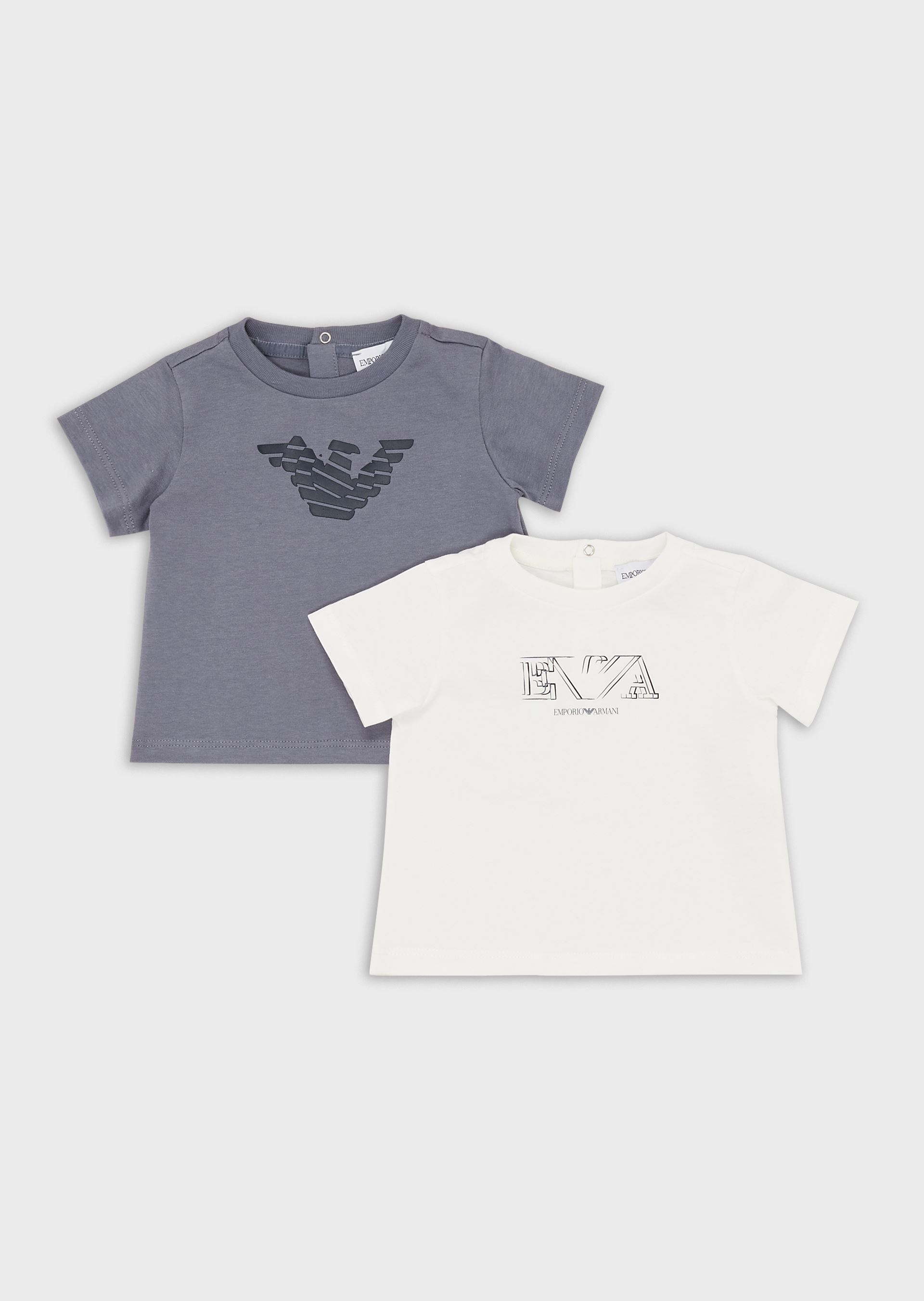 EMPORIO ARMANI Pack of 2 T-shirts with logo print