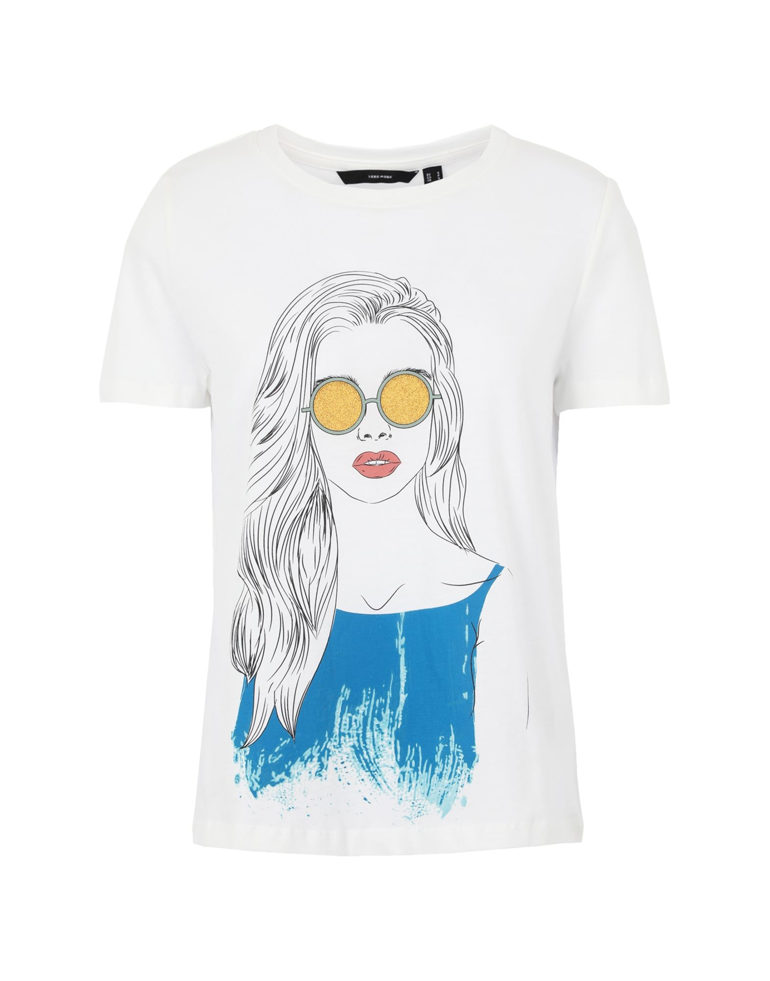 VERO MODA Футболка футболка vero moda 10195723 размер xs серый