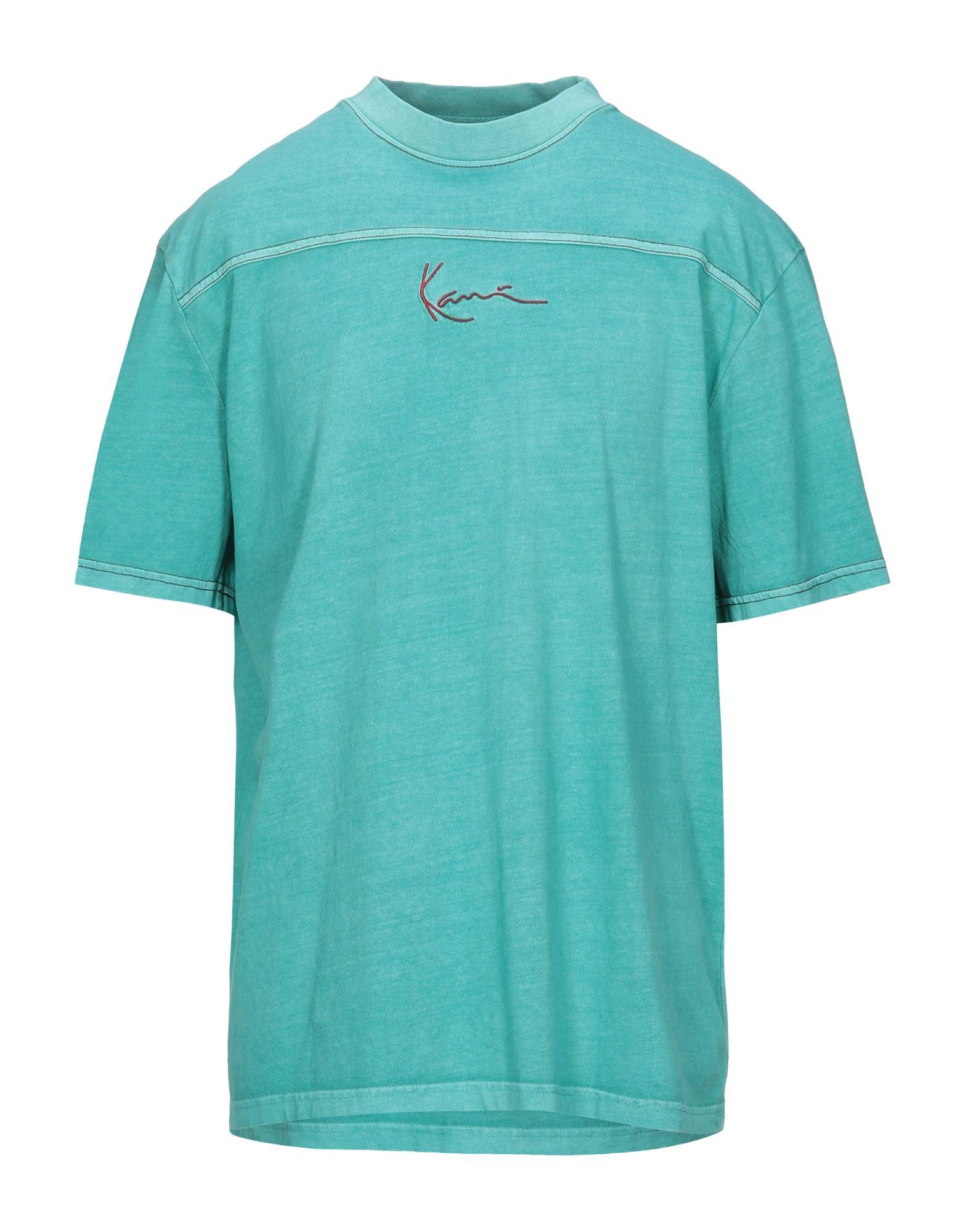 《セール開催中》KARL KANI メンズ T シャツ ターコイズブルー XS コットン 100%