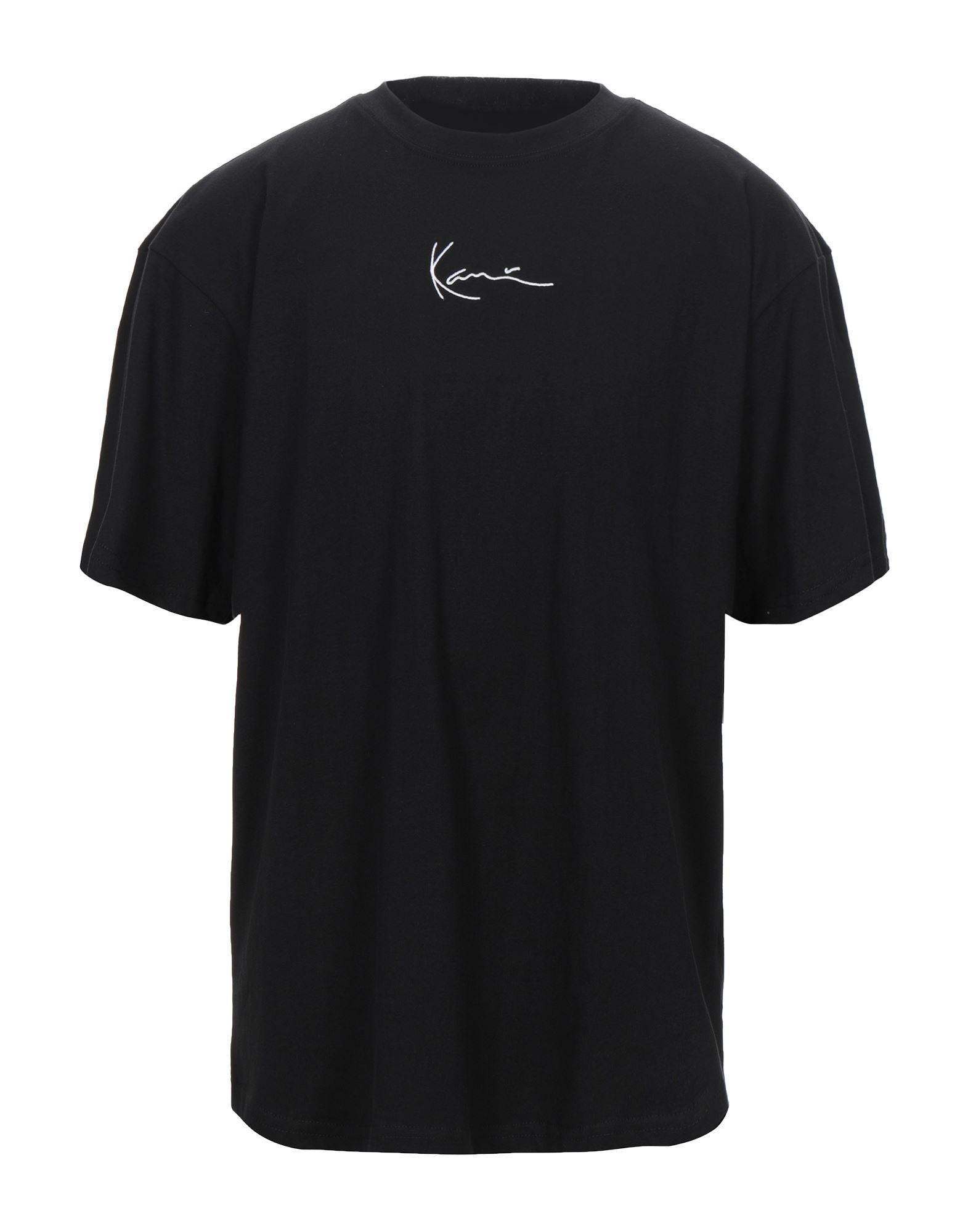 《セール開催中》KARL KANI メンズ T シャツ ブラック L コットン 100%
