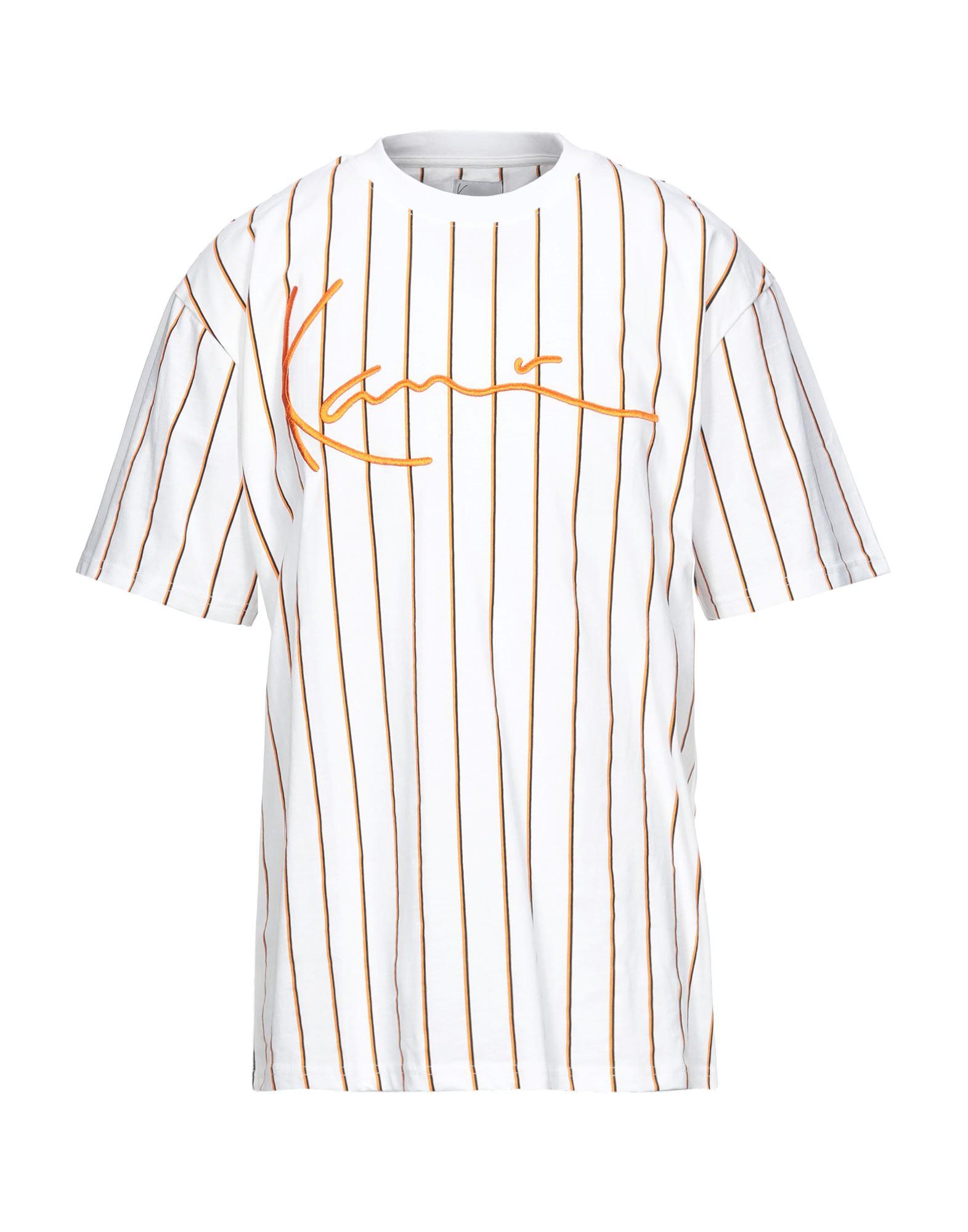《セール開催中》KARL KANI メンズ T シャツ ホワイト XS コットン 100%