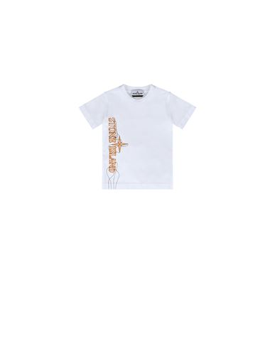 STONE ISLAND BABY 21059 'NEON LIGHTS TWO' PRINT Short sleeve t-shirt Man White EUR 75