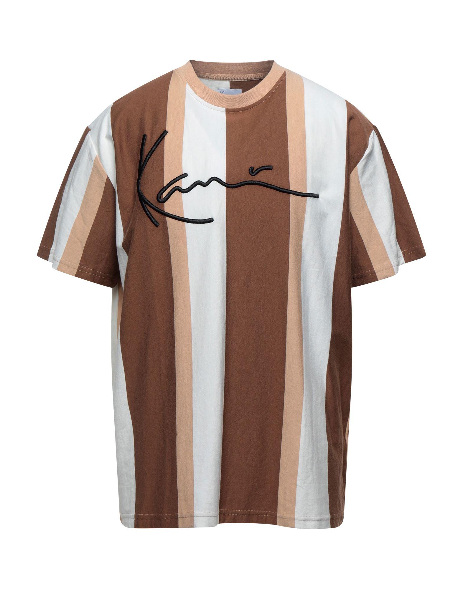 《セール開催中》KARL KANI メンズ T シャツ ブラウン XS コットン 100%